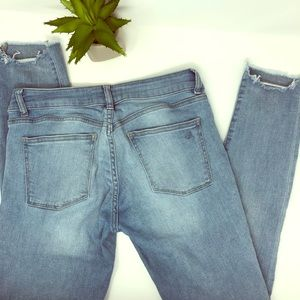 •dl1961• frayed coco curvy ankle skinny jeans